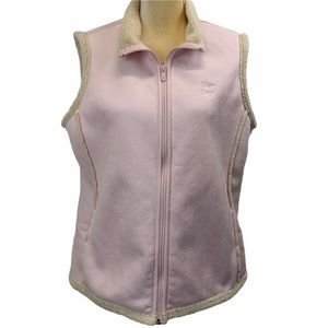 Big Dogs Pink Faux Suede Vest with Side Pockets